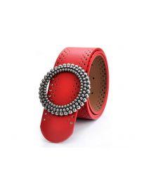Дамски колан в червено - код P48
