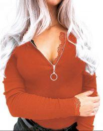Дамска блуза в оранжево - код 4046