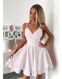 Стилна рокля в бяло - код 3030