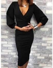 Дамска рокля в черно - код 4526