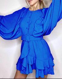 Свободна рокля в синьо - код 6299
