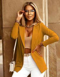 Дамско сако в цвят горчица - код 2461