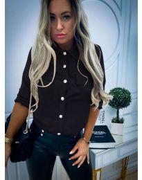 Дамска риза в черен цвят - код 102