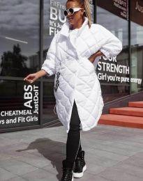 Модерно дамско яке в бяло - код 0475