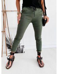 Дамски панталон в маслено зелено - код 2020