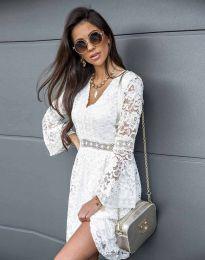 Елегантна рокля в бяло - код 6239