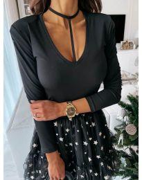 Атрактивна дамска блуза в черно - код 4231