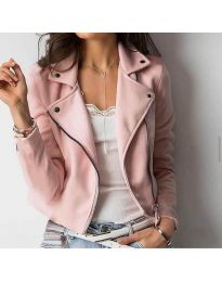 Дамско късо яке в розово - код 794