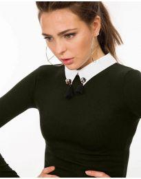 Дамска блуза в масленозелено - код 5933