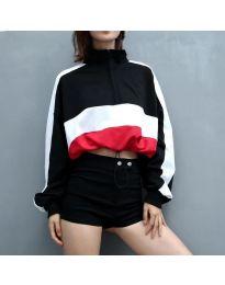 Къса спортна блуза с дълги ръкави - код 200 - 1