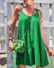 Атрактивна дамска рокля в зелено - код 6589