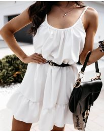 Изчистена рокля в бяло - код 7768