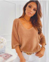 Дамска блуза в кафяво - код 901