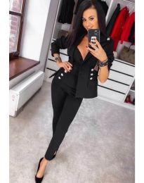 Комплект от сако и панталон в черно - код 889