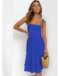 Дамска рокля в синьо - код 630