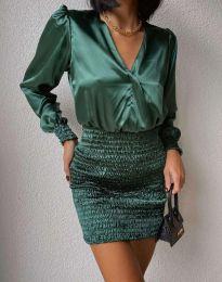 Елегантна дамска рокля в зелено - код 0395