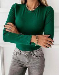 Изчистена дамска блуза в зелено - код 4863