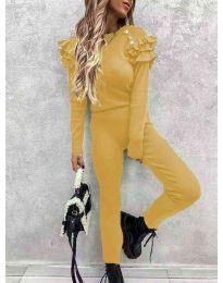 Дамски комплект в  цвят горчица - 5583