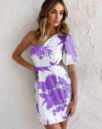 Атрактивна рокля с едно рамо - код 4650 - 3