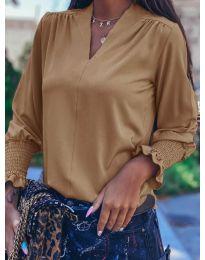 Дамска блуза в кафяво - код 4549