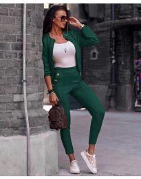 Стилен комплект в зелено - код 954