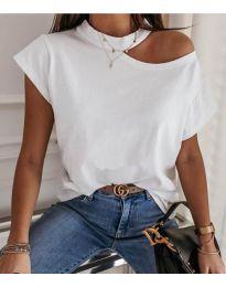 Тениска - код 3725 - бяло