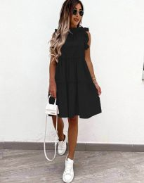 Феерична рокля в черно - код 2663