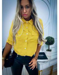 Дамска риза в жълто - код 102