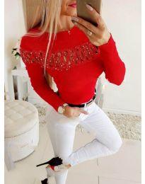 Елегантна дамска блуза в червено - код 3511