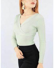 Дамска блуза в цвят мента - код 6455