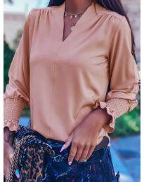 Дамска блуза в пудра - код 4549