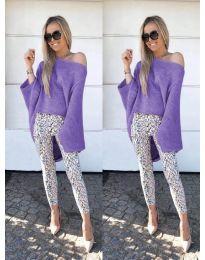 Дамска блуза в лилаво - код 937