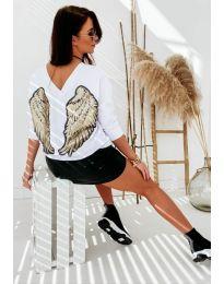 Дамска блуза в бяло - код 4032