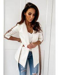 Дамско елегантно сако в бяло - код 6023