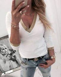 Дамска блуза в бяло - код 3149