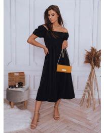 Свободна дамска рокля в черно - код 2117