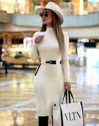 Елегантна дамска рокля в бяло - код 2932
