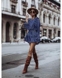 Дамска рокля в синьо  - код 0701