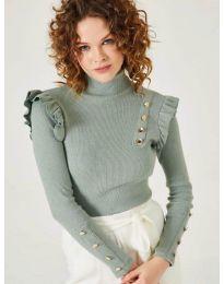 Дамска блуза в мента - код 11483