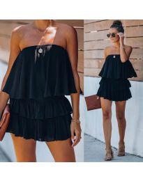 Свободна рокля в черно - код 0489