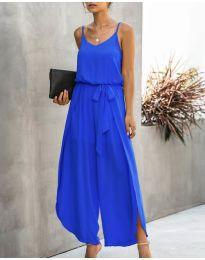 Свободен дамски гащеризон в син цвят - код 565