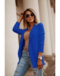 Дамско сако в синьо - код 2900