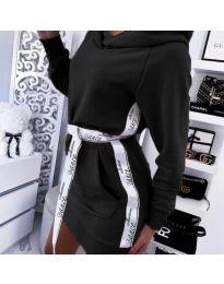 Спортна рокля в черно - код 4483