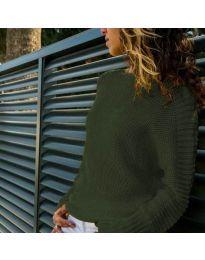 Дамска блуза в маслено зелено - код 825