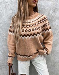 Ефектен дамски пуловер - код 0549 - 1