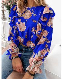 Дамска блуза в тъмно  синьо - код 4256