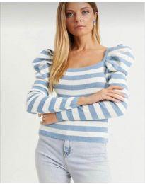 Блуза с светло синьо райе - код 0263