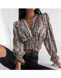 Блуза с ефектен десен - код 0483 - 1