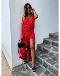 Елегантна рокля в цвят червено - код 0081