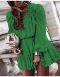 Свободна дамска рокля в зелено - код 3231